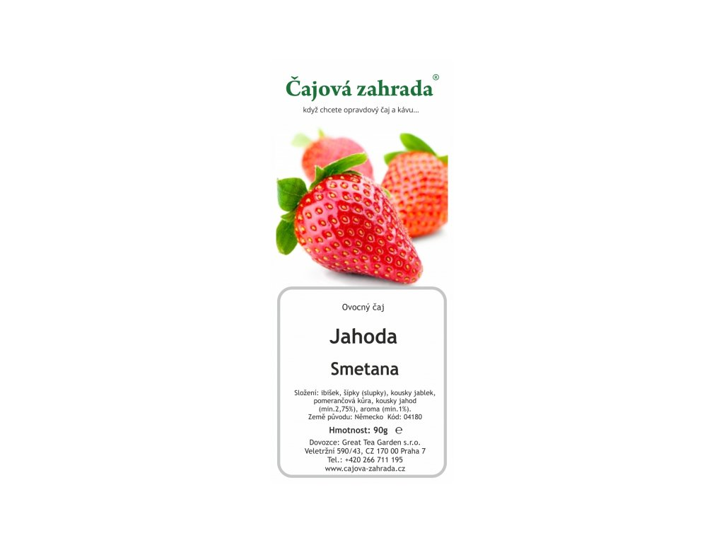 Ovocný sypaný čaj Jahoda Smetana