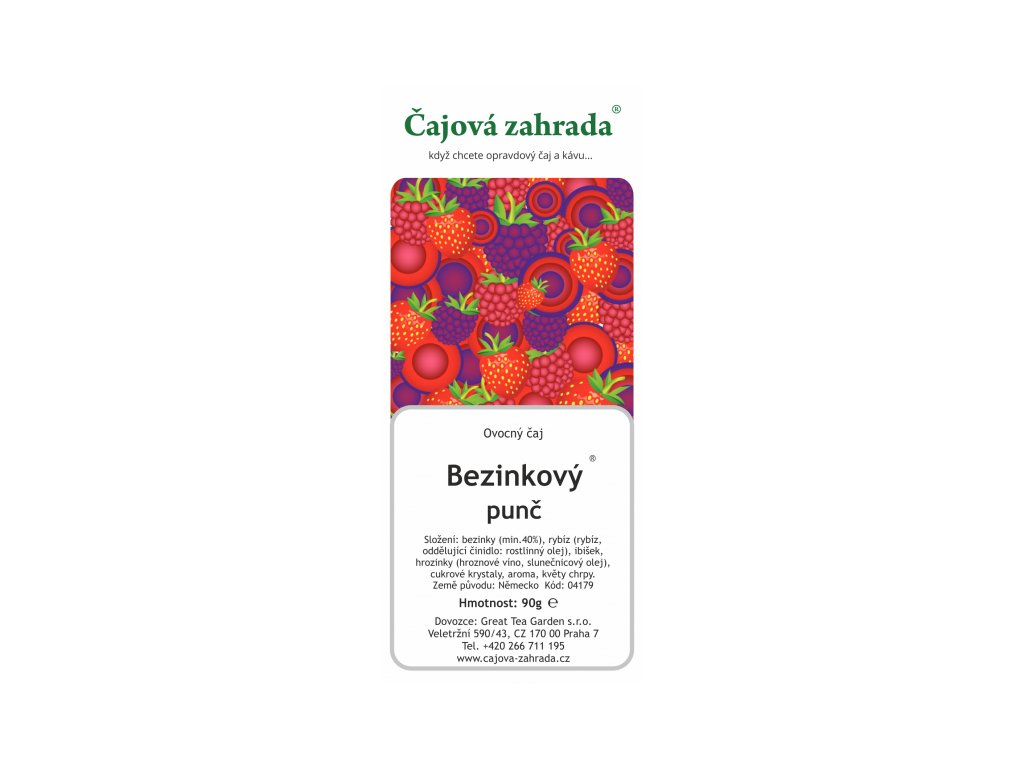 Ovocný sypaný čaj Bezinkový punč