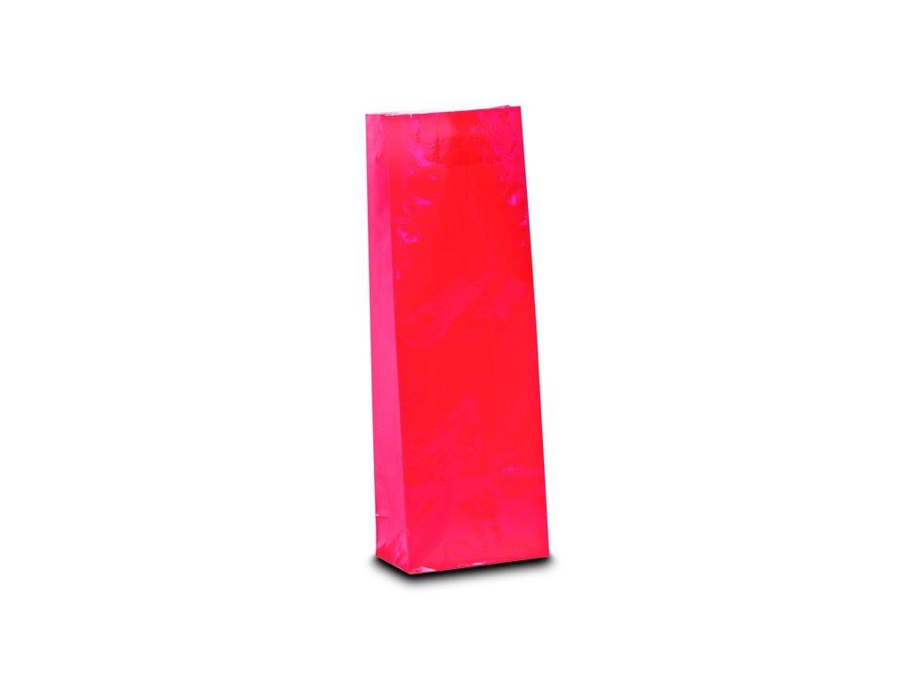 Třívrstvý jahodově červený sáček_Čajová zahrada