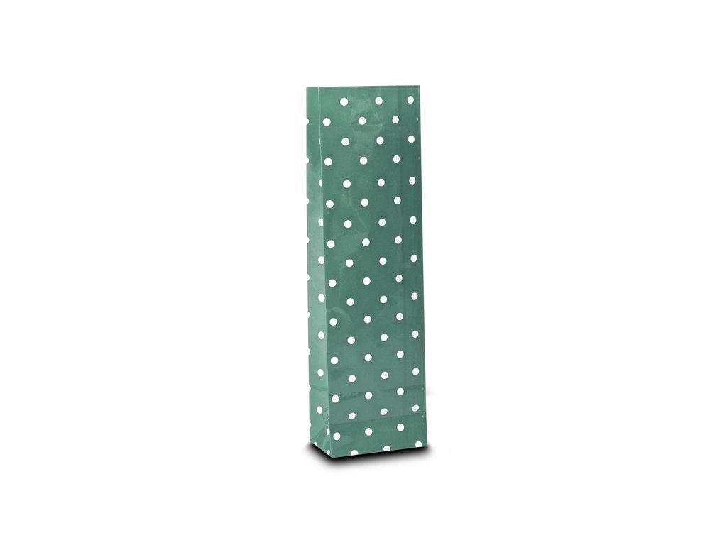 Třívrstvý šedý sáček s bílými puntíky_Čajová zahrada