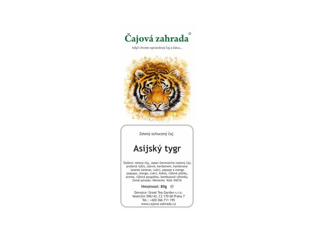Zelený ochucený čaj Asijský tygr