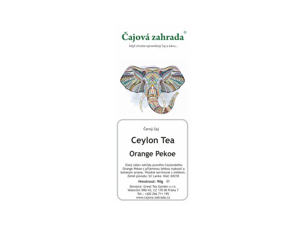 Sypaný černý čaj Ceylon Orange Pekoe
