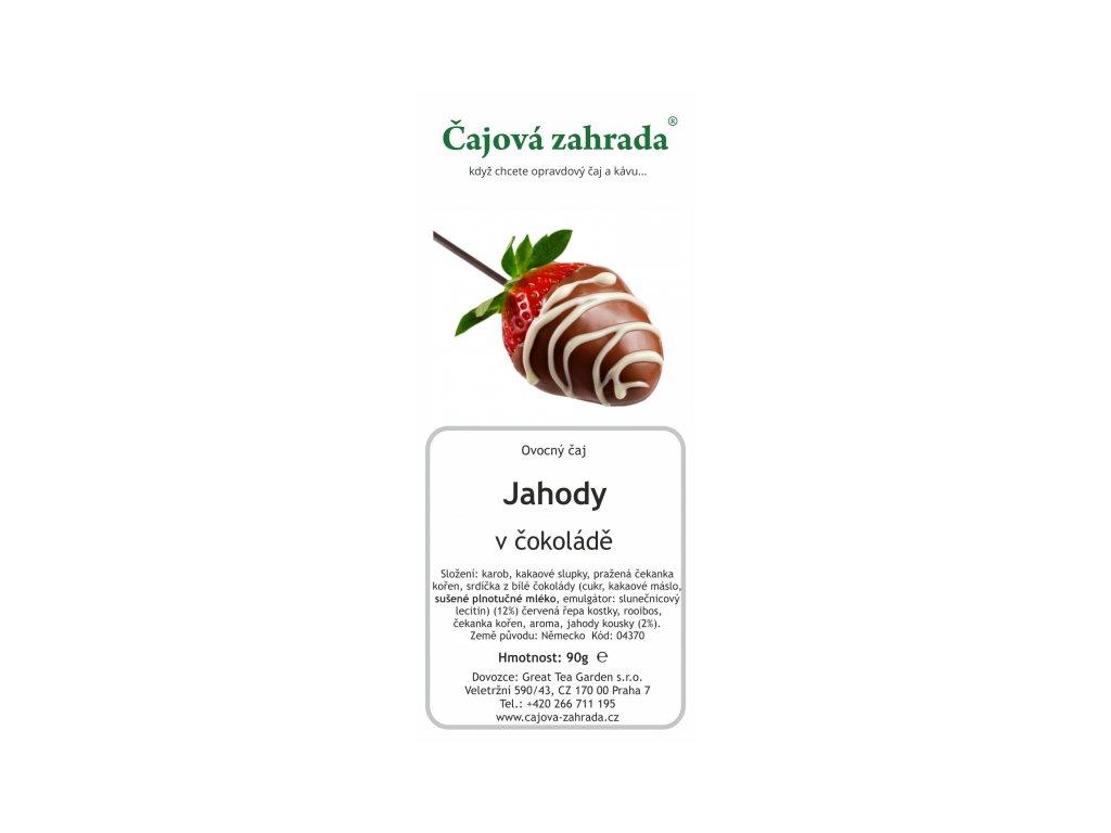 Ovocný sypaný čaj Jahody v čokoládě