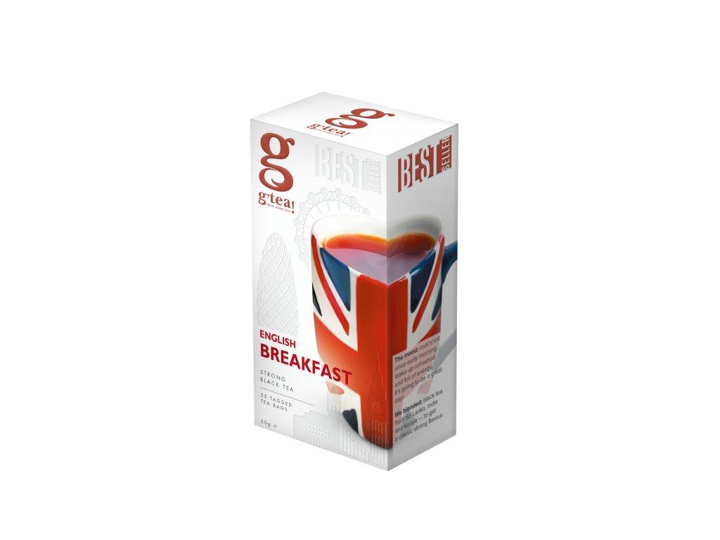Černý čaj English Breakfast Tea G Tea - 25 sáčků