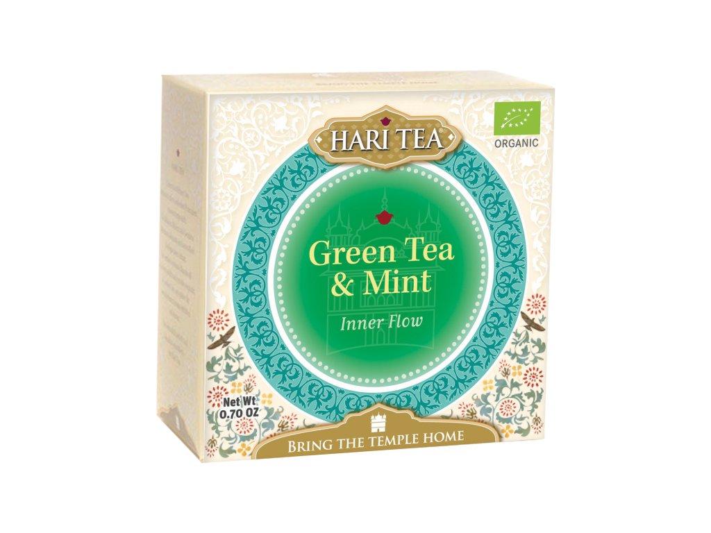 Sáčkový ajurvédský čaj Hari Tea - Zelený čaj & Máta
