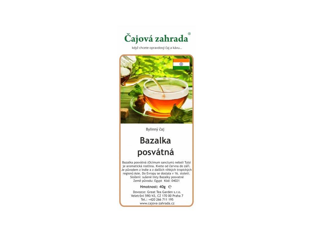 Bylinný čaj Bazalka posvátná | Tulsi