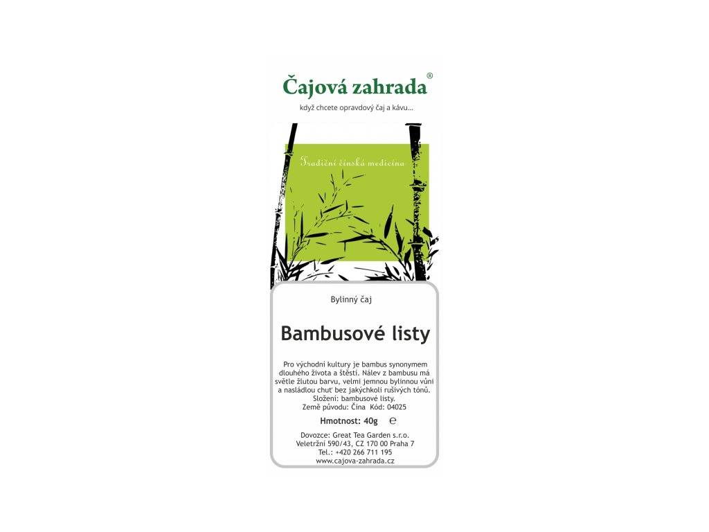 Bylinný meduňkový čajBylinný čaj Bambusové listy