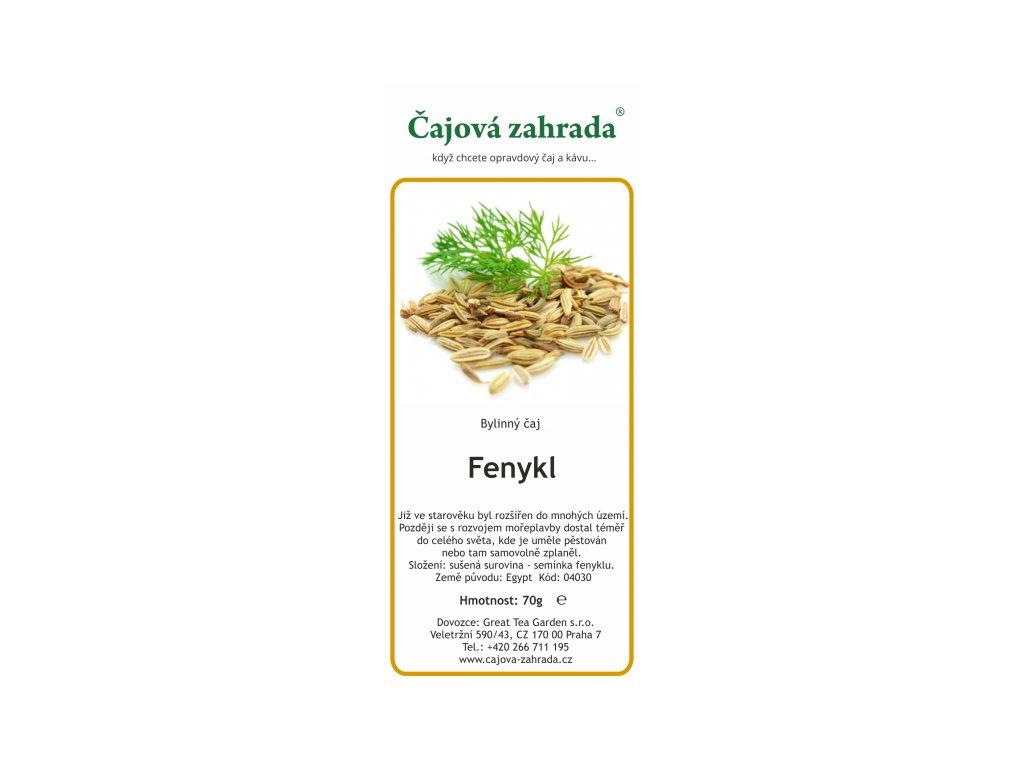 Bylinný čaj Fenykl_Fenyklový čaj