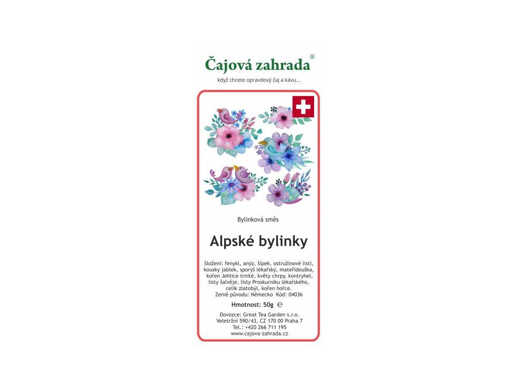 Bylinná směs Alpské bylinky