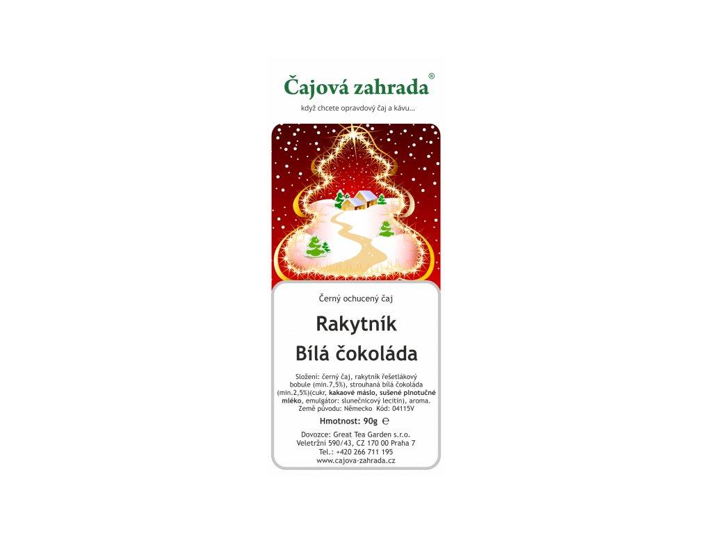 Vánoční čaj Rakytník & Bílá čokoláda