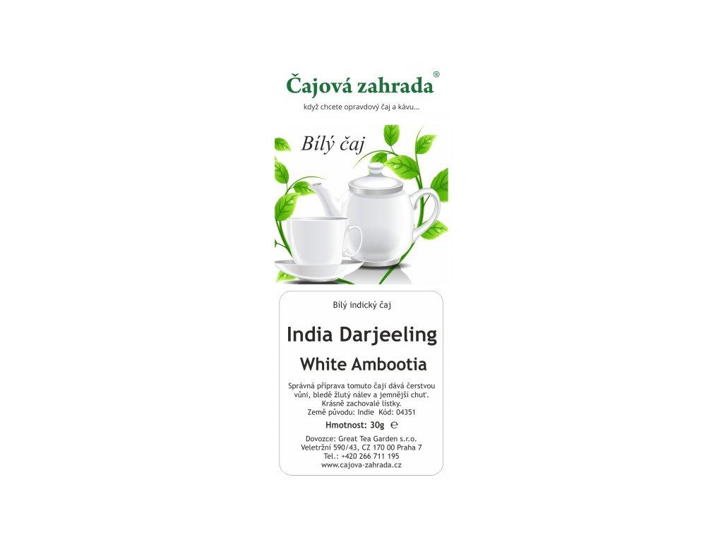 Bílý sypaný čaj India Darjeeling White Ambbotia