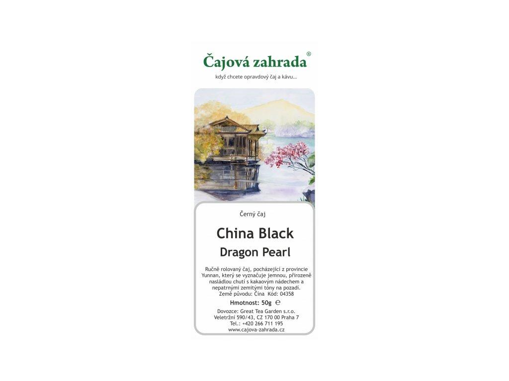 Sypaný černý čaj China Black Dragon Pearl