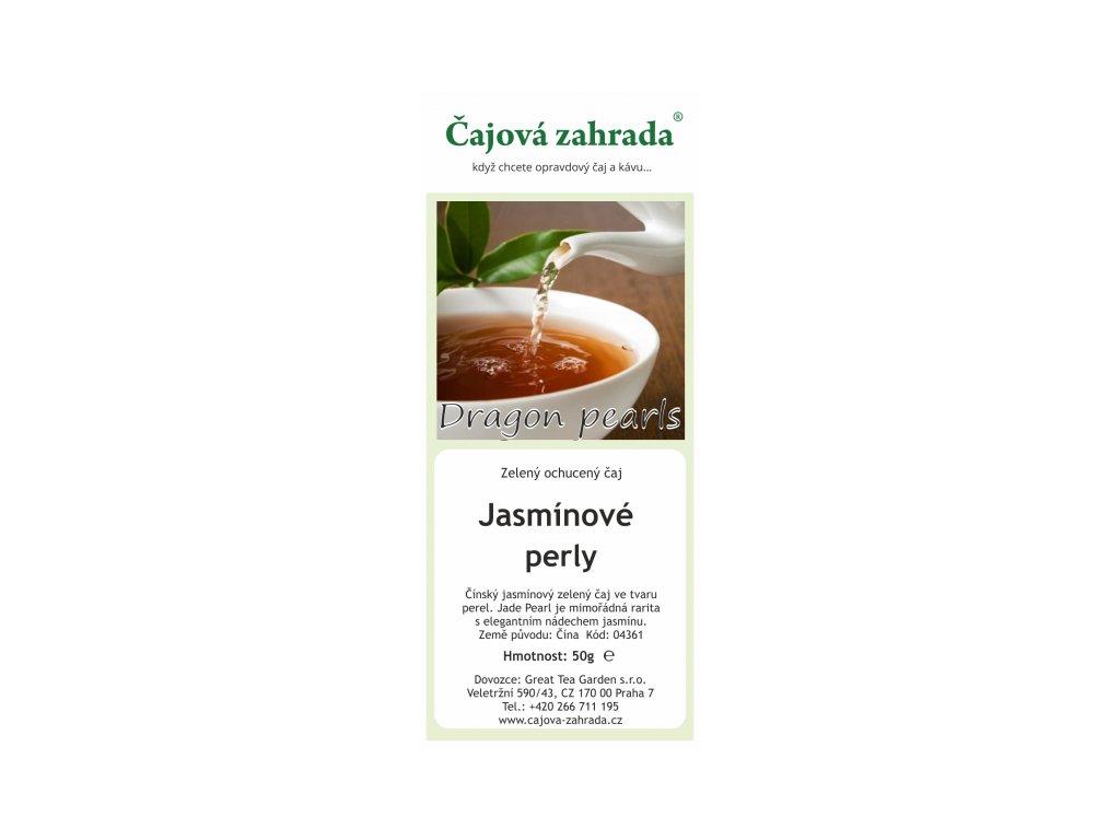 Zelený sypaný čaj Jasmínové perly