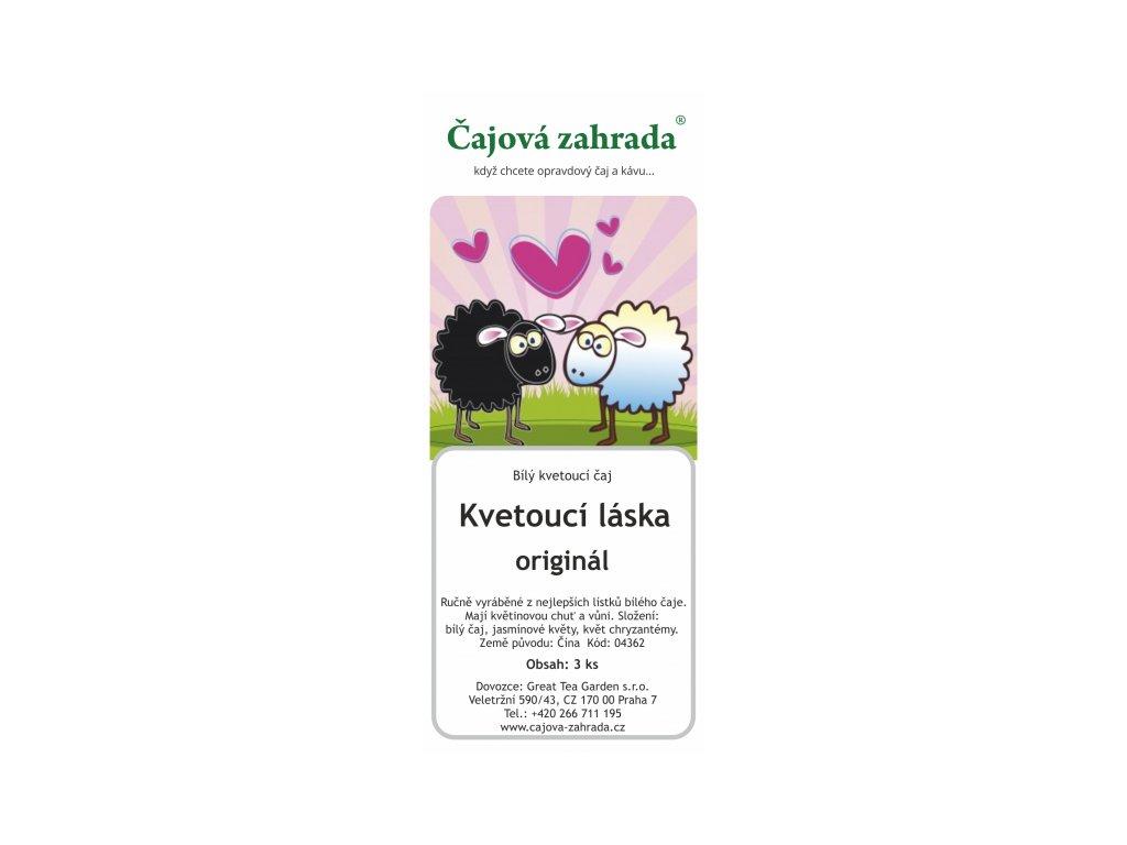 Kvetoucí bílý čaj Kvetoucí láska - sada 3 ks