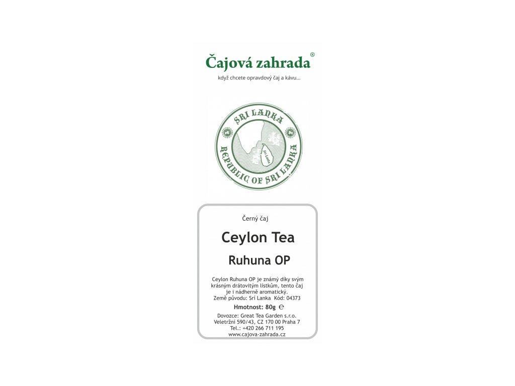 Sypaný černý čaj Ceylon Ruhuna
