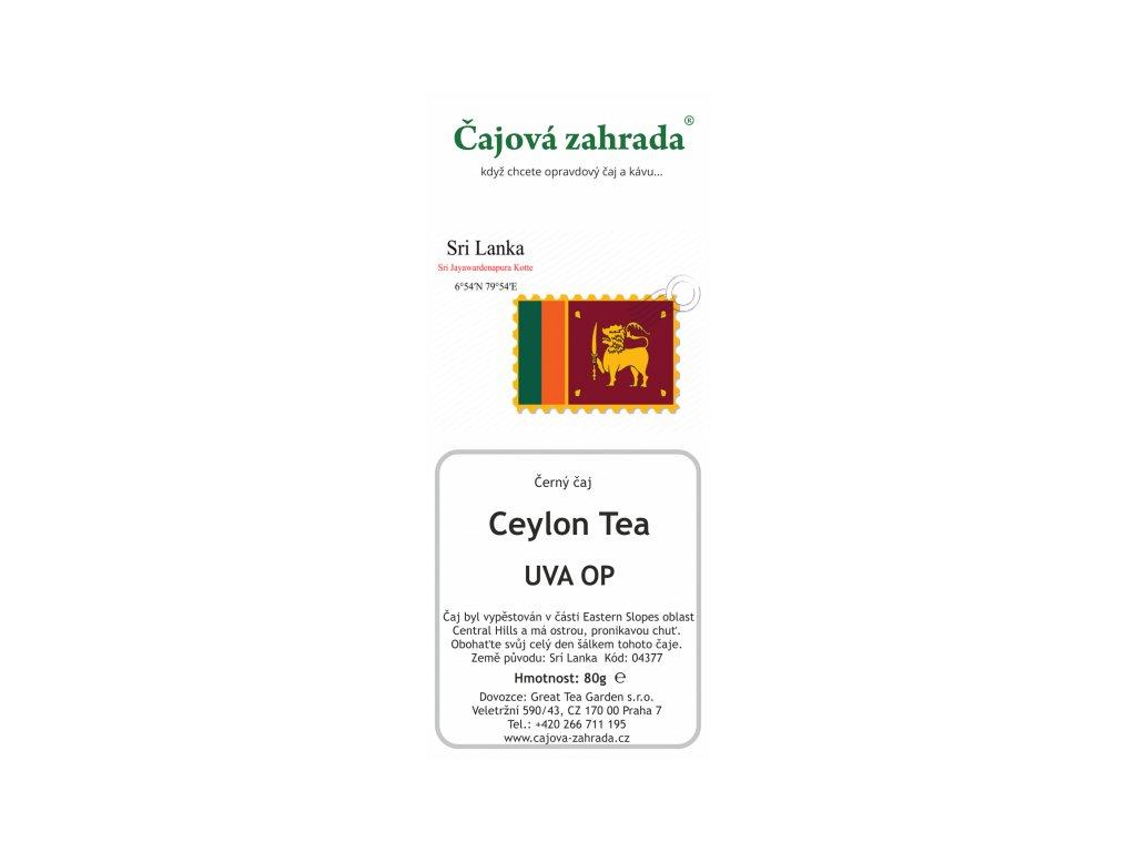 Sypaný černý čaj Ceylon UVA OP