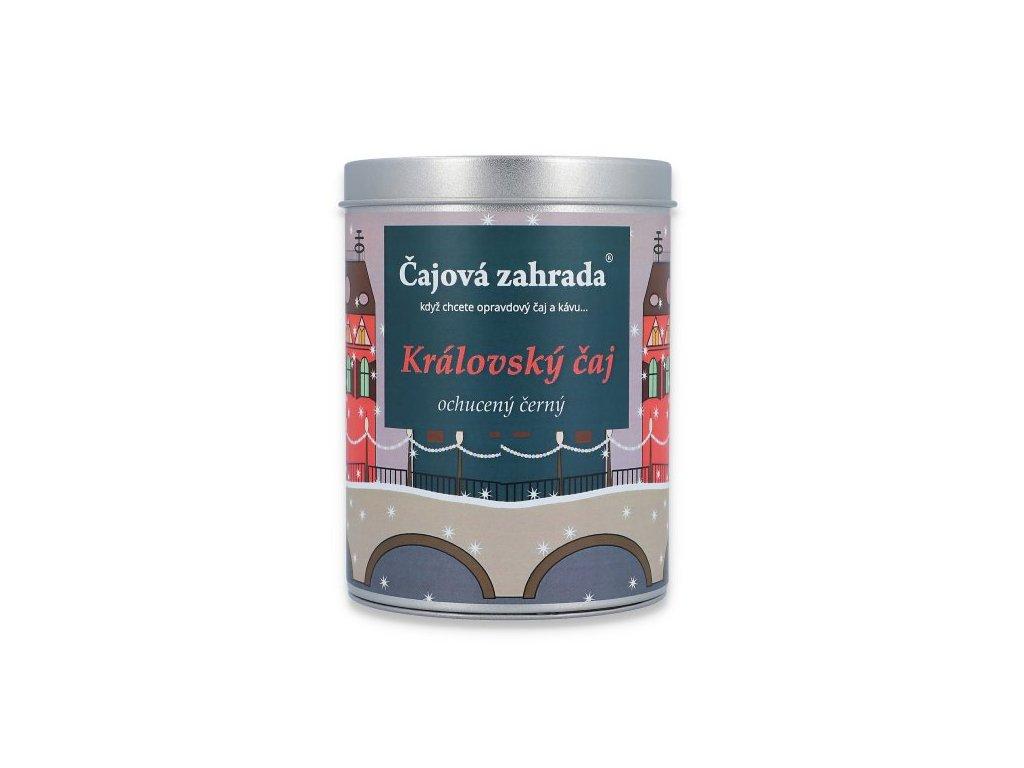 Sypaný černý vánoční ochucený Královský čaj v dóze