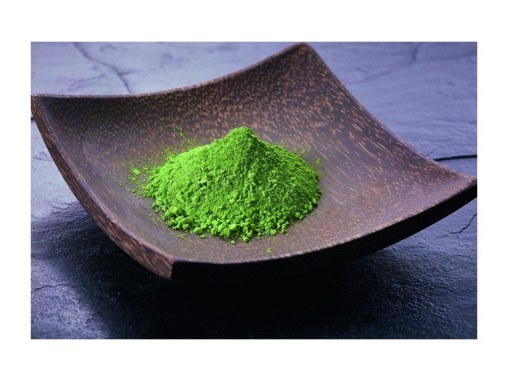 Zelený sypaný čaj Matcha Tea v dóze
