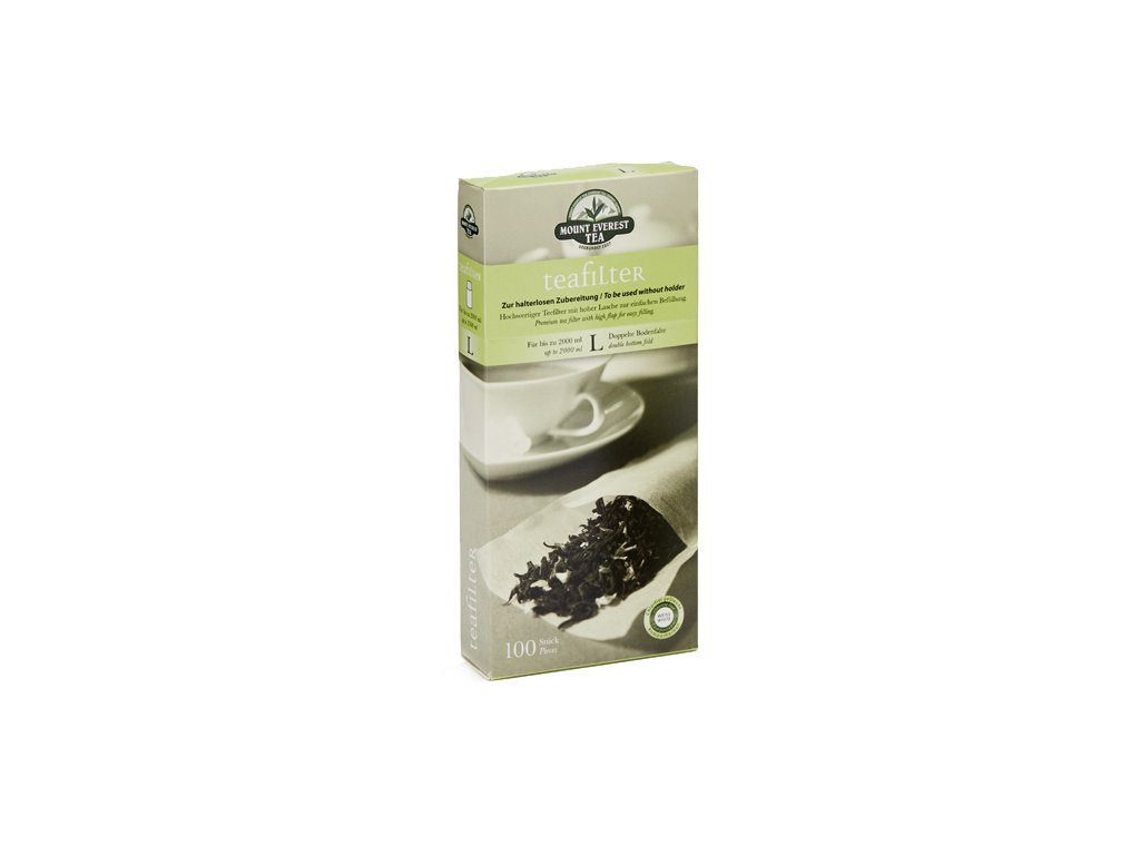 Papírové fitry na čaj o velikosti L_Čajová zahrada