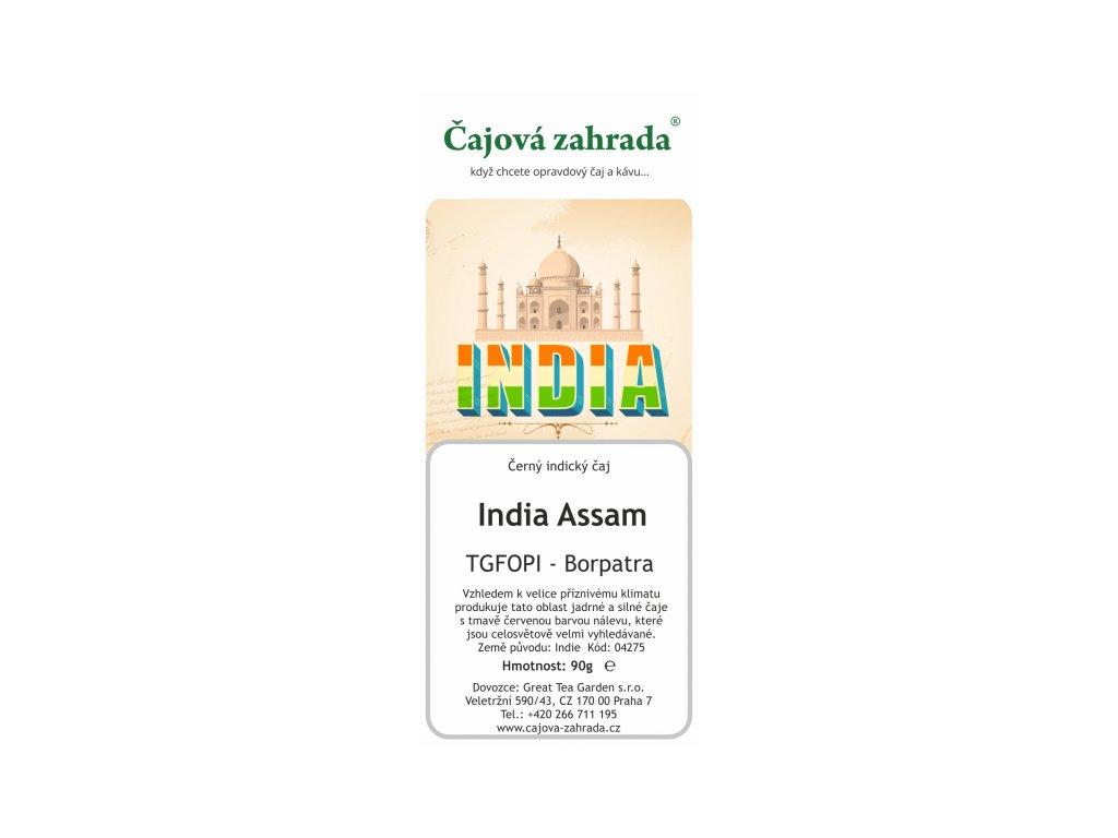 Sypaný černý čaj India Assam TGFOPI Borpatra