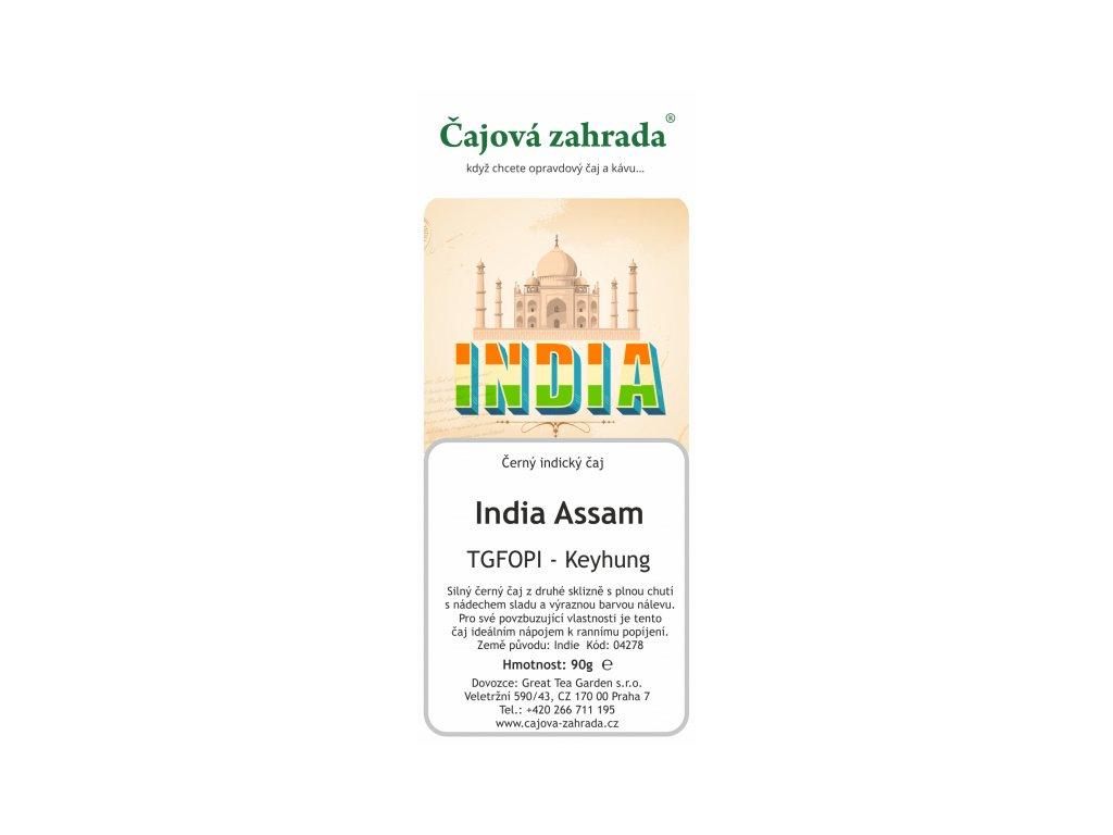 Sypaný černý čaj India Assam TGFOPI Keyhung