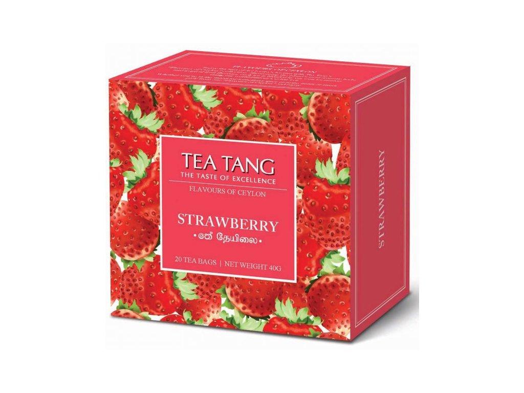Černý sáčkový čaj Tea Tang - Jahoda