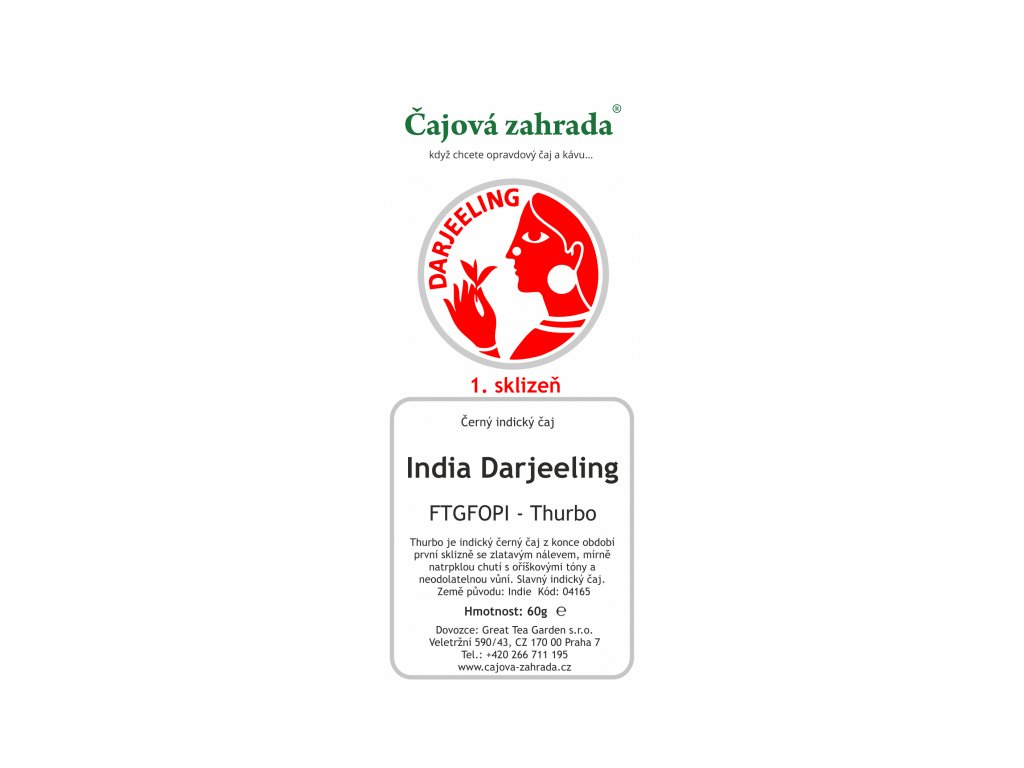 India Darjeeling TGFOPI Thurbo - černý čaj