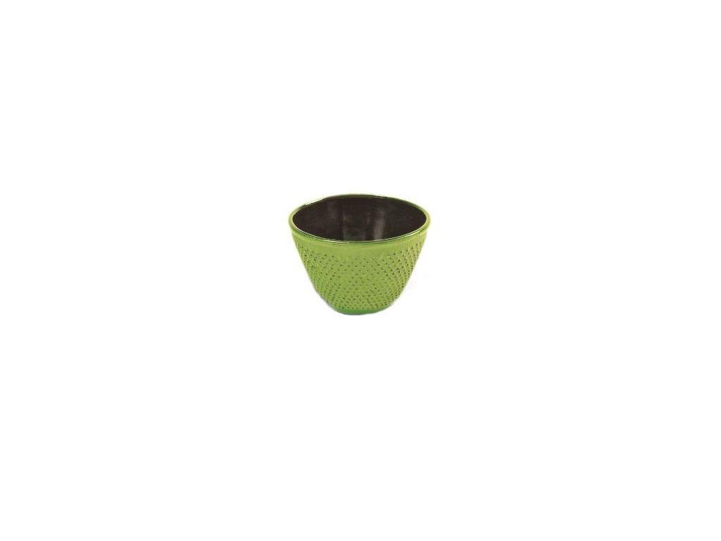 Japonský litinový šálek Nikko zelený