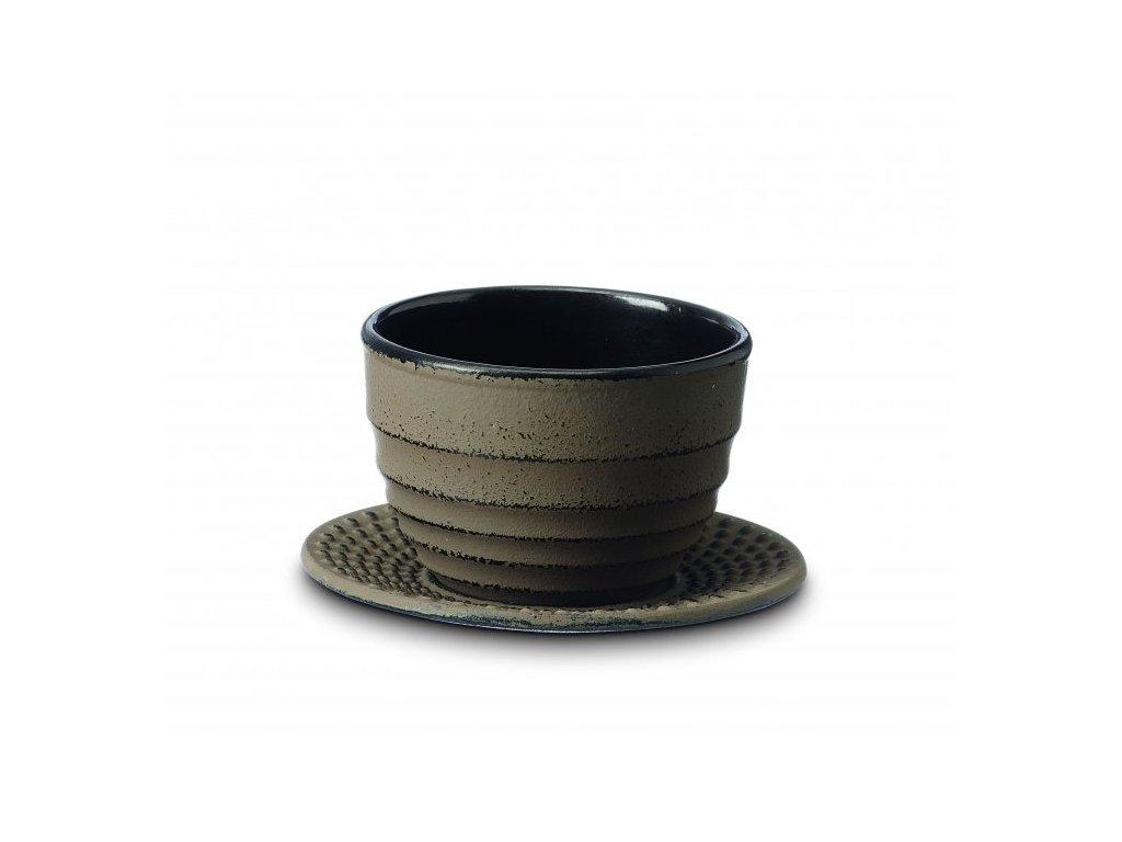 Japonský litinový šálek Ainu hnědý