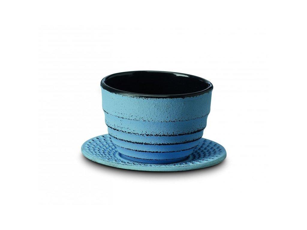 Japonský litinový šálek Ainu modrý