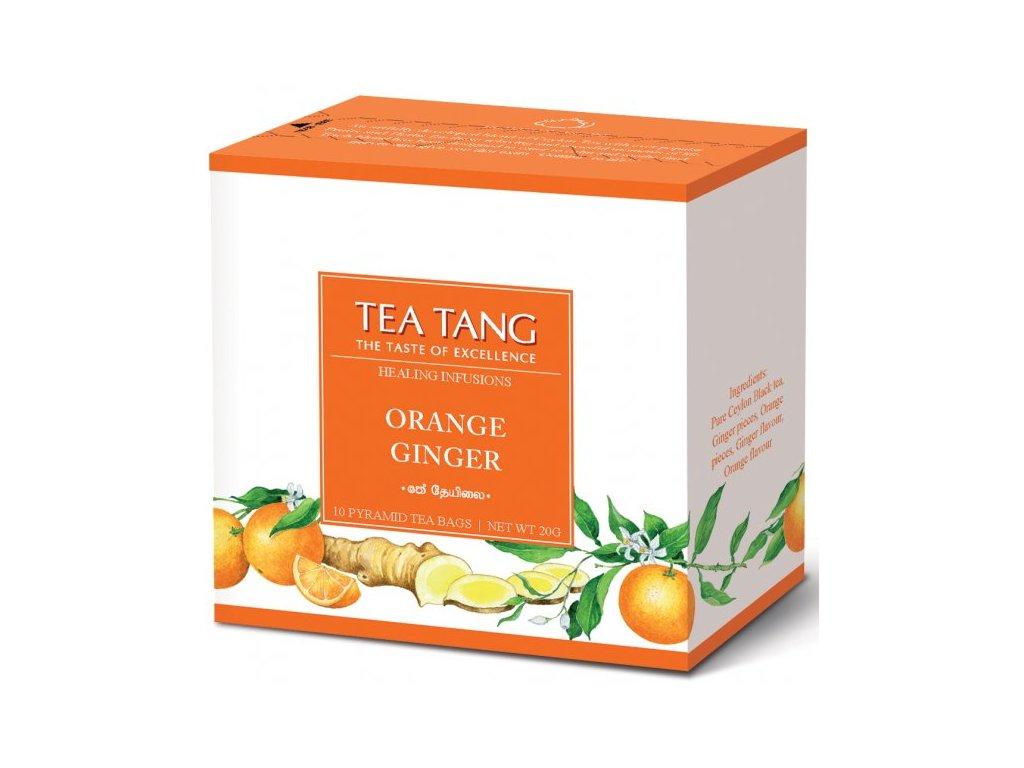 Černý sáčkový čaj Tea Tang - Pomeranč Zázvor