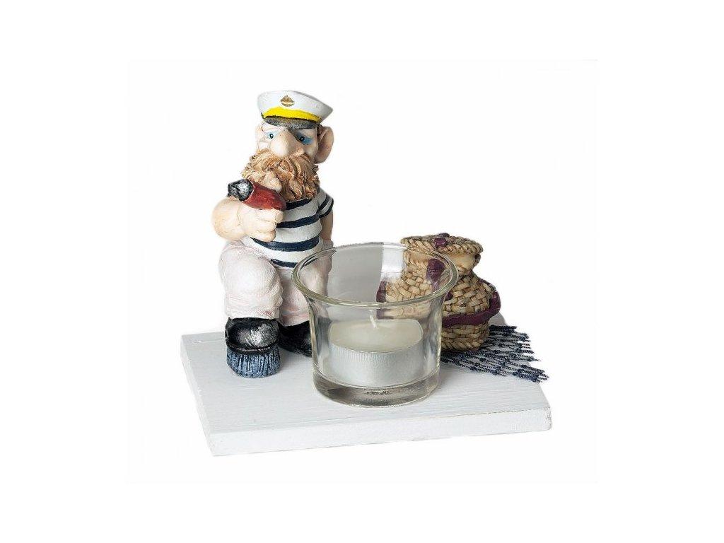 Námořník - Mořský podstavec na svíčku