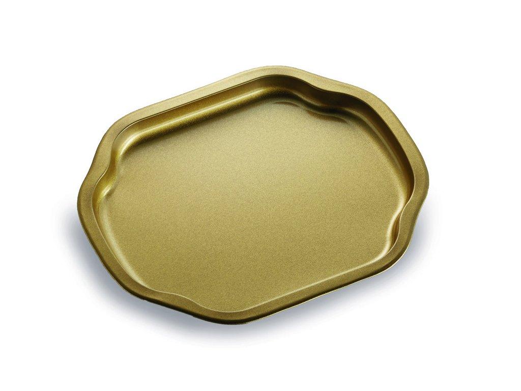 Servírovací tác - zlatý