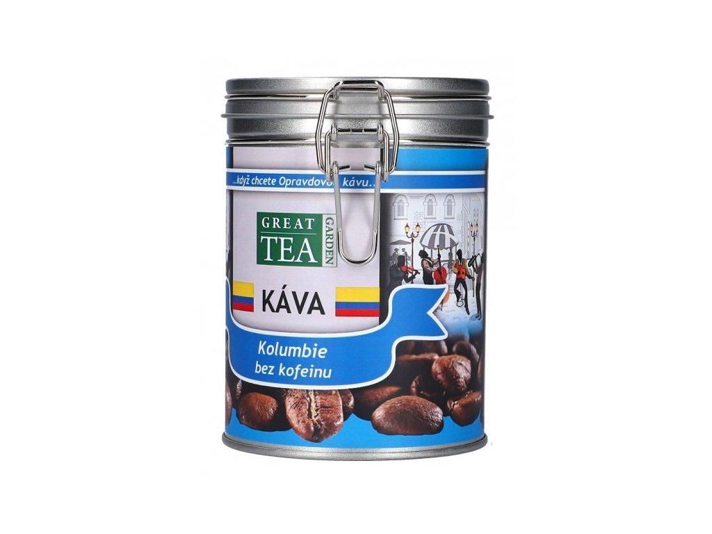 Káva arabica v dóze - Kolumbie bez kofeinu