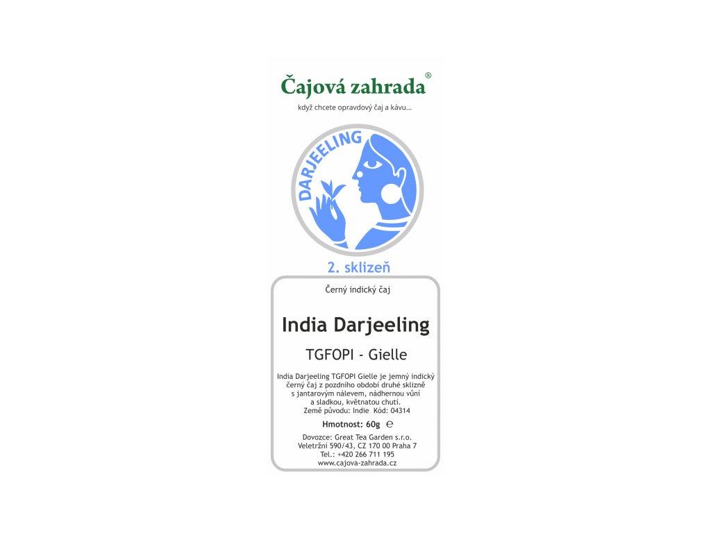 Sypaný černý čaj India Darjeeling TGFOPI Gielle