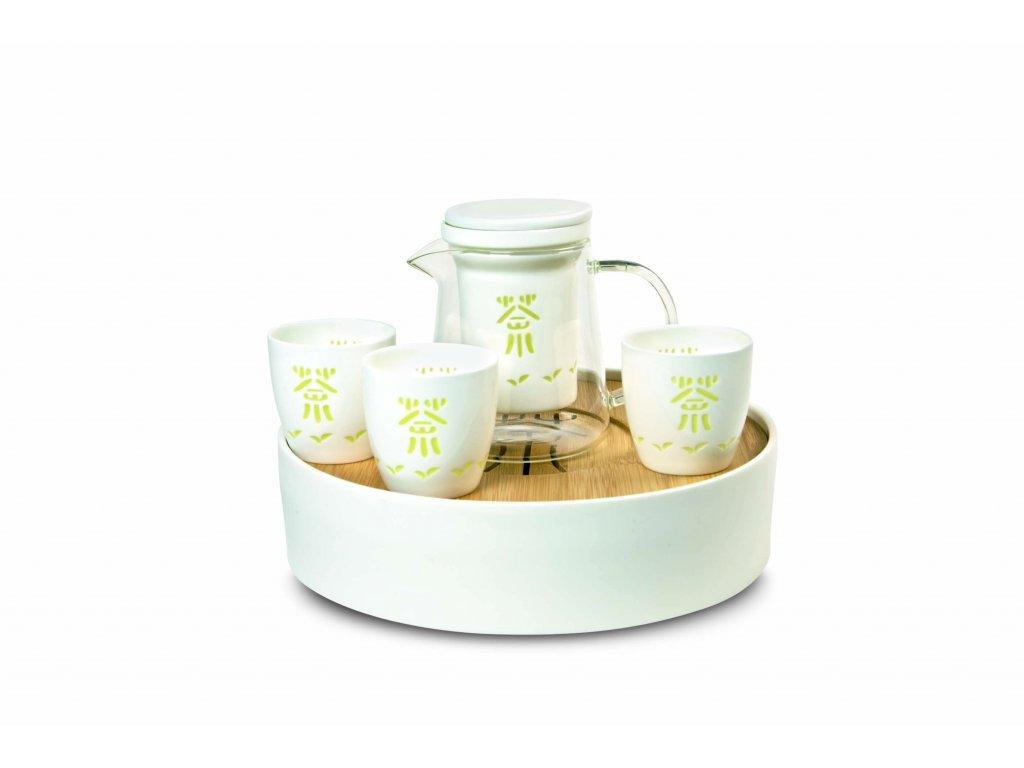 Čajová porcelánová souprava Monk