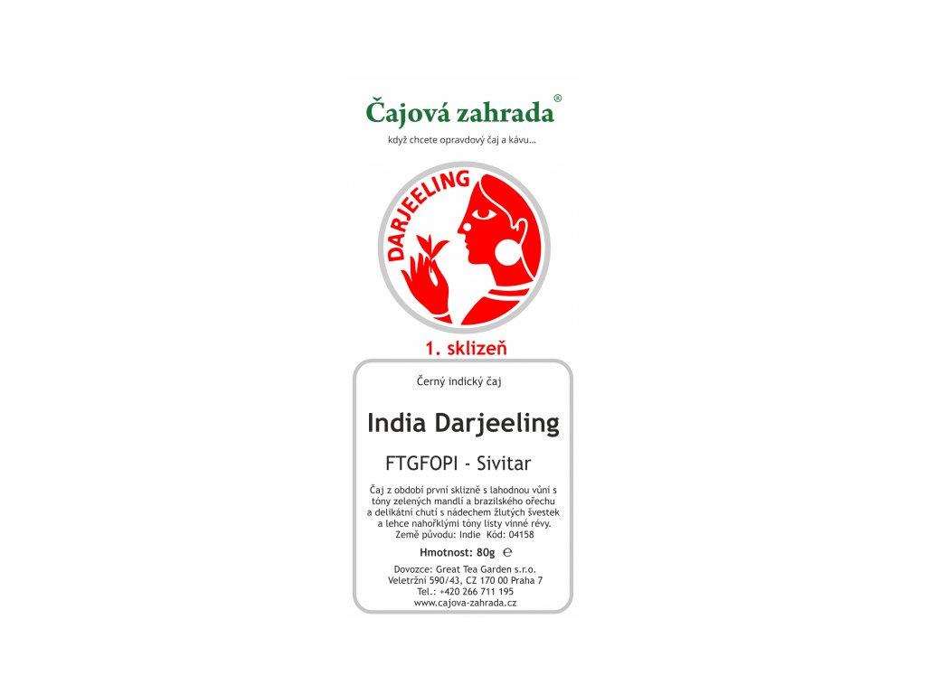 Sypaný černý čaj India Darjeeling FTGFOPI Sivitar