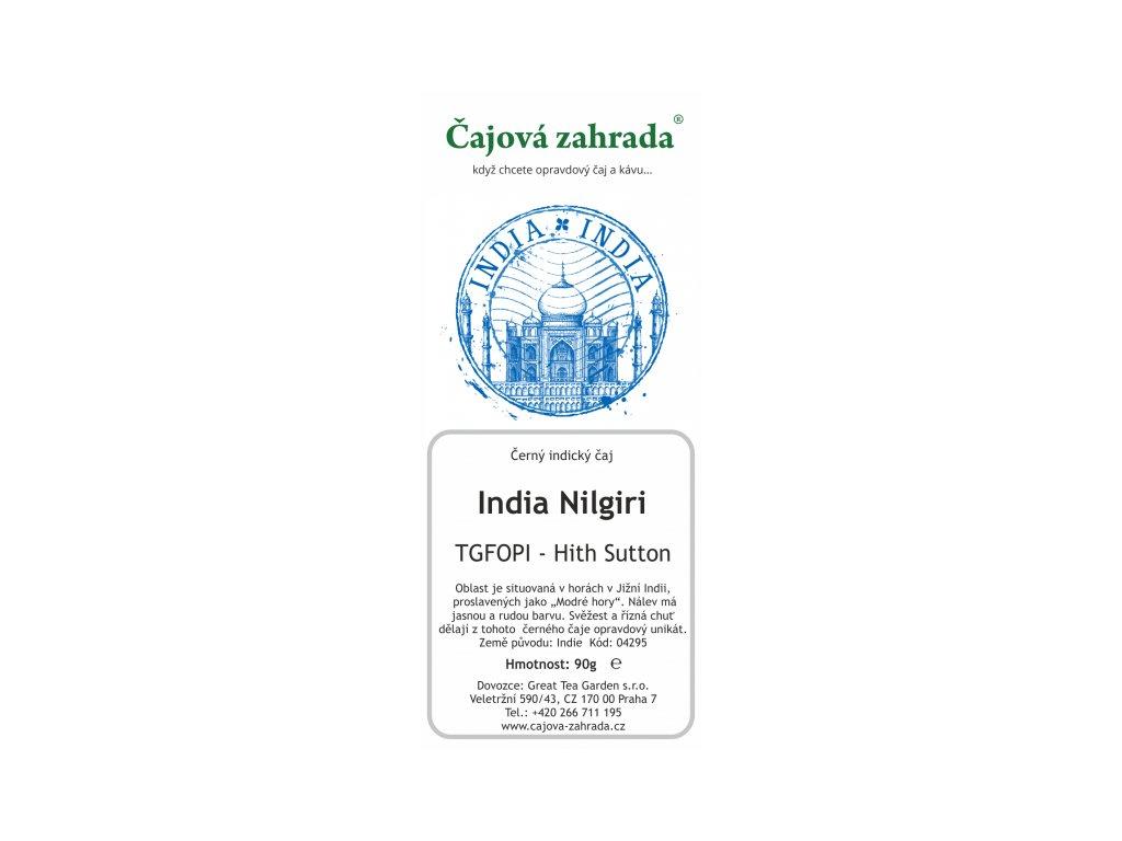 India Nilgiri TGFOPI High Grown Sutton - černý čaj