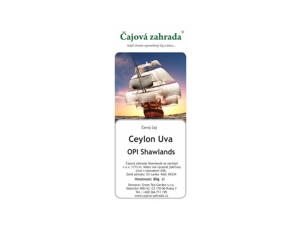 Sypaný černý čaj Ceylon OPI Shawlands
