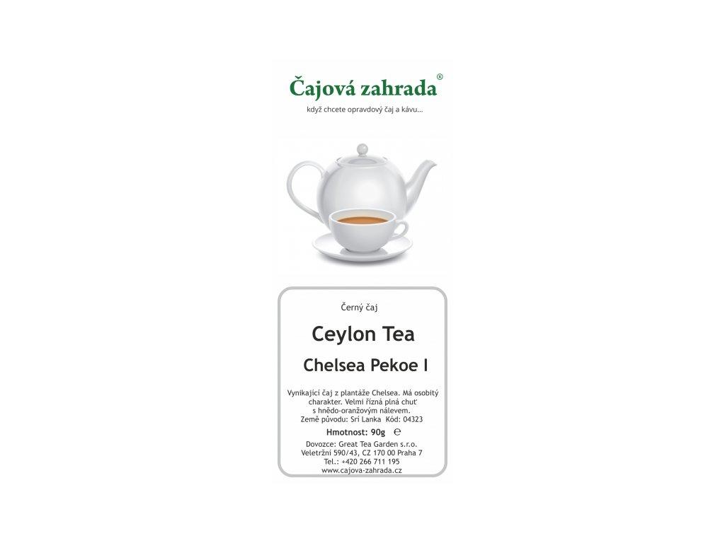Sypaný černý čaj Ceylon Chelsea Pekoe