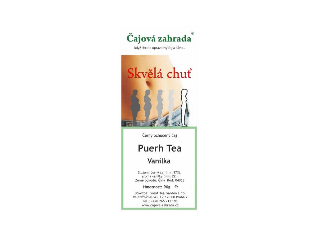 Puerh Tea Vanilka - černý ochucený čaj