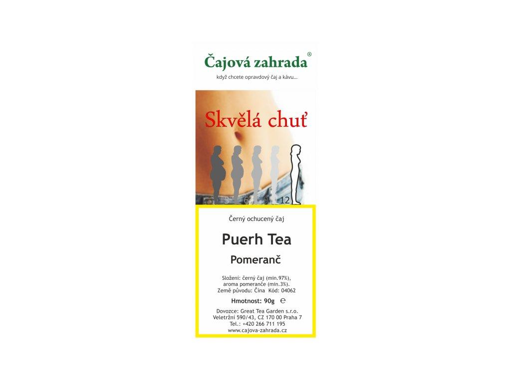 Puerh Tea Pomeranč - černý ochucený čaj