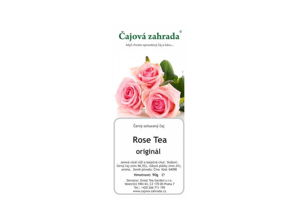 Černý ochucený čaj Rose Tea