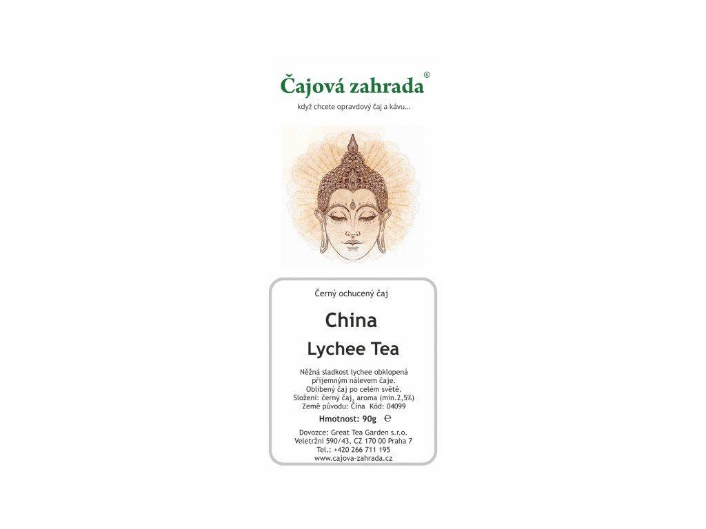 Ochucený černý čaj China Lychee Tea