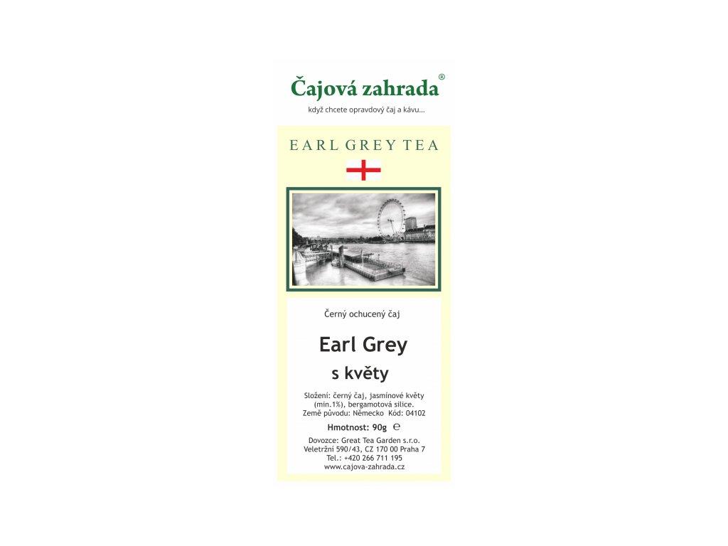 Ochucený černý čaj Earl Grey s květy