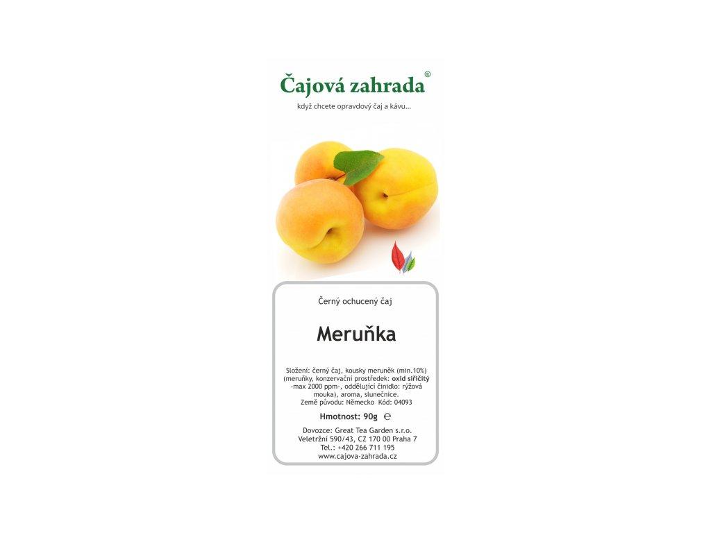 Černý ochucený čaj - Meruňka