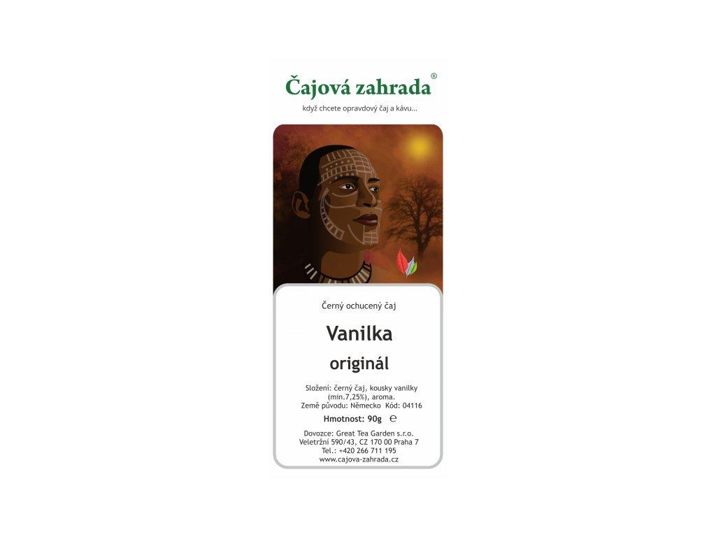 Černý ochucený čaj - Vanilka