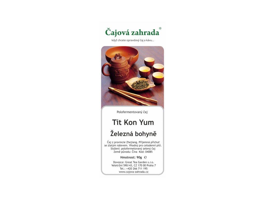 Sypaný čaj Oolong Tit Kon Yum