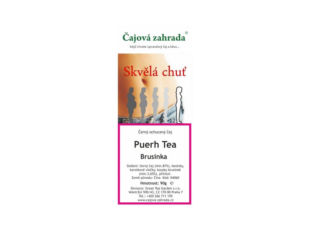 Puerh Tea Brusinka - černý ochucený čaj