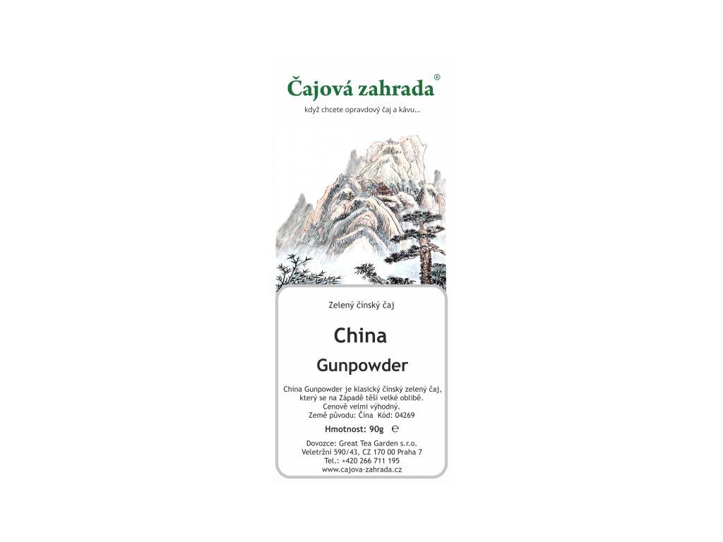 Zelený sypaný čaj China Gunpowder